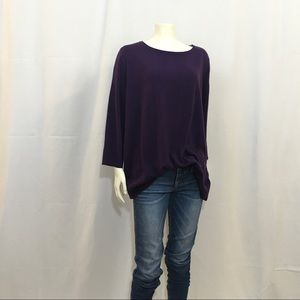 NWT Karen Scott XL Purple Sweater